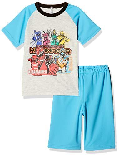 [バンダイ] パジャマ上下 (昇華転写プリントで鮮花やかなデザインの洗濯ネット付き) 魔進戦隊キラメイジャー 盛夏Tスーツ 522 2534935 ボーイズ サックス 日本 120cm (日本サイズ120 相当)
