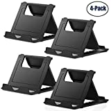 Cell Phone Stand,4 Pack Tablet Stand,Universal Foldable Multi-Angle Pocket Desktop Holder Cradle for Tablets(6-11'),iPhone X/8/7 Plus/7/6s/6/5/4 SE iPad Mini, Nintendo Switch Samsung Galaxy (4 PCS)