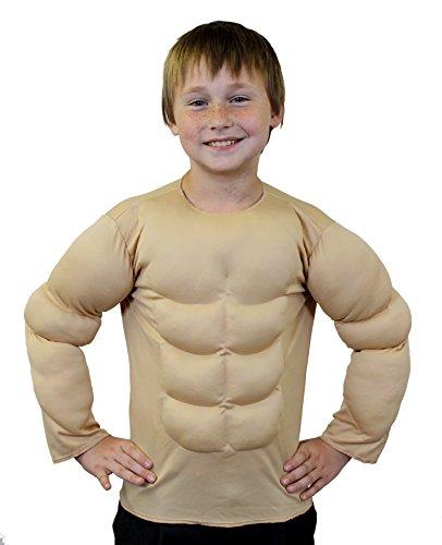 I LOVE FANCY DRESS LTD Déguisement d'homme Fort ou de Super héro avec ce Torse musclé Beige pour Enfant. Idéal pour Les enterrements de Vie de garçon. ( XLarge - 11/14ans )