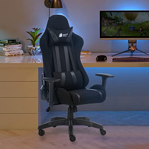 Green Soul Beast Series Multi-Functional Ergonomic Gaming Chair (GS-600) (Full Black) (Size - Medium)