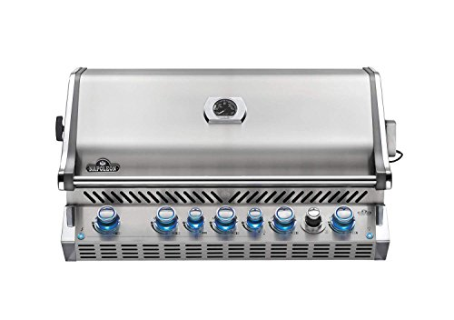Napoleon BIPRO665RBNSS-3 Burner, Stainless Steel Built-in Prestige PRO 665 Natural Gas Grill Head with Infrared Rear B - Assembly Built Free Gas Grill Grills in Natural UDS