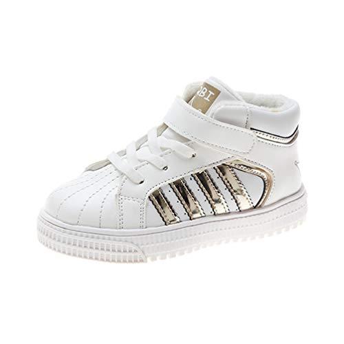Zapatillas de Deporte para niños Zapatillas de Tenis para niñas Zapatillas de Deporte de Moda para Conchas de caña Alta para niños Calzados Informales