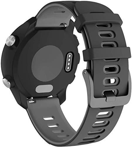 Classicase Correa de Reloj Recambios Correa Relojes Caucho Compatible con Garmin Forerunner 235 / Forerunner 735XT / Forerunner 220 / Forerunner 230 - Silicona Correa Reloj con Hebilla (Pattern 7)