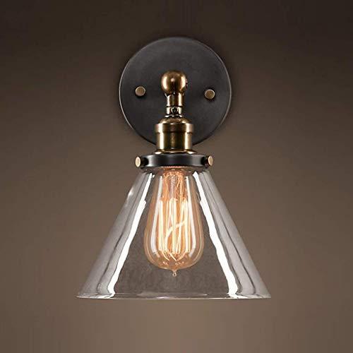 CLJ-LJ Alto gusto Lámpara de pared de la pared náutico Nostálgico Industria americano antiguo rural cobre Art Glass, comedor dormitorio Sala de Estudio lámpara de Pasillo del pasillo de la lámpara de