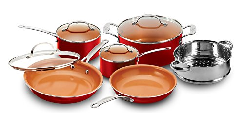 Gotham Steel 10 Piece Nonstick Copper Cookware Set