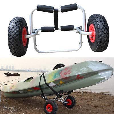 Carro genérico para Kayak, Canoa, Carrito, con Ruedas, neumático y neumático con Correa, Plegable, Resistente, Resistente