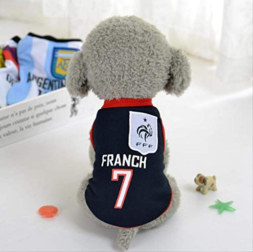 UD-strap Pet Jersey Football Licensed Dog Jersey, Dog Clothes Football T-Shirt Dogs Kostüm National Soccer World Cup, Outdoor Sportswear Summer Breathable 2XL B
