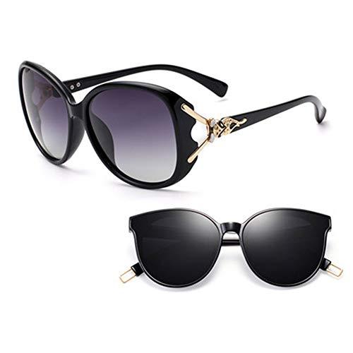 ZhangHai Gafas De Sol para Mujer Gafas De Sol Polarizadas para Mujer 2020 Nueva Cara Redonda Versión Coreana De La Marea Gafas De Protección UV Conducción De Pesca Deportiva