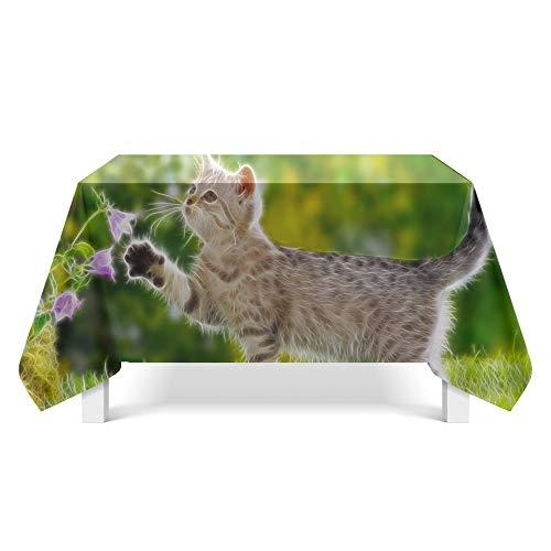 DREAMING-Tier Statische Stoff Tischdecke Home Tischdecke Tv Schrank Couchtisch Stoff Runde Tisch Tischset 140cm * 200cm