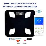 MEDITIVE Bluetooth Digital BMI Weight Scale with Body Fat Analyzer and Fitness Body