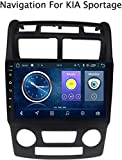 GLFDYC Android 8.1 GPS Navigation Car Stereo Radio, para KIA Sportage 2007-2013, 9 Pulgadas Pantalla Táctil Completa Reproductor Multimedia, Bluetooth Control del Volante,4G+WiFi:1+16G-AT