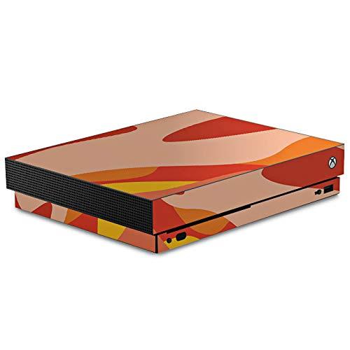 DeinDesign Skin kompatibel mit Microsoft Xbox One X Aufkleber Folie Sticker Camouflage Bundeswehr Orange