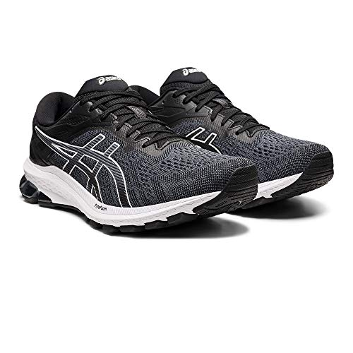Asics GT-1000 10, Road Running Shoe Hombre, Black/White, 44 EU