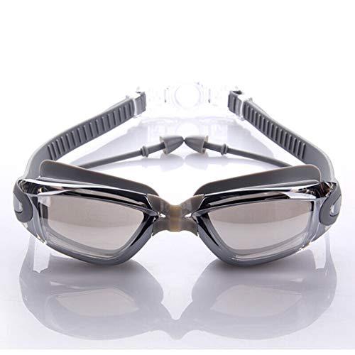 Zwembril HD Comfort waterdicht en beslaat niet, voor mannen en vrouwen, galjanplastic groot frame.