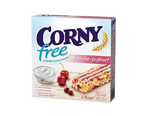 Corny free Kirsche-Joghurt, Müsliriegel OHNE Zuckerzusatz, 10er Pack (10 Schachteln mit je 6 Riegeln)