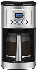 small Cuisinart DCC-3200P1 Perfectemp coffee machine, programmable 14 cup cup with glass decanter, stainless steel