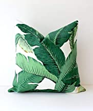 Modern Tropical Green Designer Pillow Cover Accent Cushion Aloe Emerald Resort Summer Leaves Banana Beverly Hills Botanical Palms Frond Palm