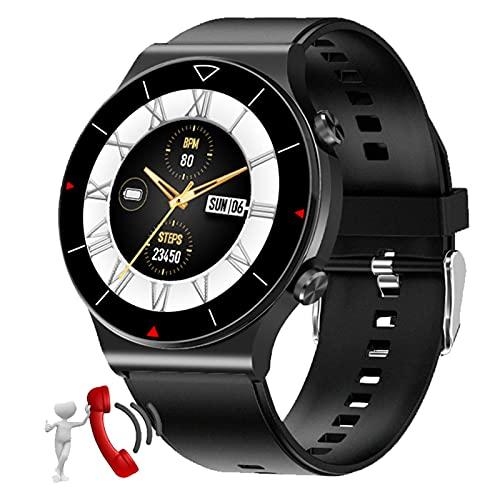 HQPCAHL Relojes Inteligente Hombre Smartwatch con Llamadas Pulsómetro Presión Arterial, Monito De Sueño,Podómetro Pulsera Reloj Impermeable IP68 para Android iOS,E