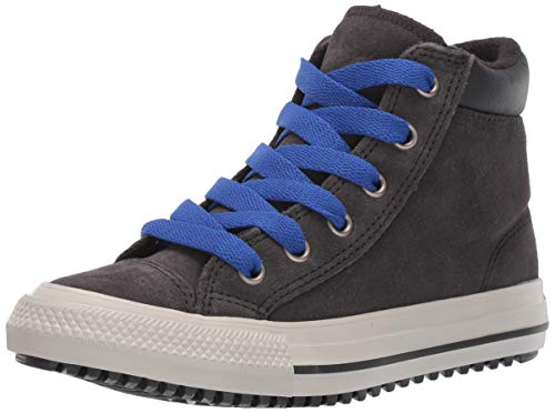 Converse Boys' Chuck Taylor All Star Pc Boots On Mars Sneaker, Almost Black/Blue/Birch Bark, 1 M US Little Kid