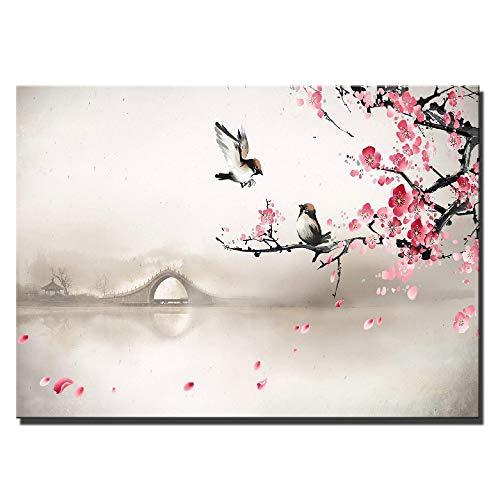 NIMCG Carteles e Impresiones de Arte de Pared Gran tamaño Rosa roja Pop Art Flores Pinturas de Lienzo Cuadros Modernos para decoración del hogar 20x30 cm (sin Marco)