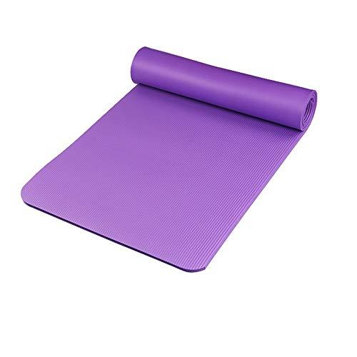 JenLn Ejercicio Yoga Mat Yoga Unisex Estiramiento De Pilates Suelo Y Fitness Ejercicio Antideslizante Mat Deportes 15MM Grosor Estera de Entrenamiento para Ejercicios de Piso