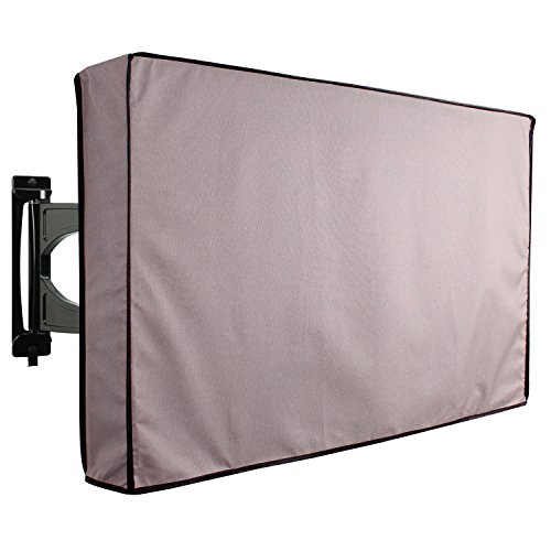 KHOMO GEAR Outdoor TV Cover Universal Weatherproof Protector for 40 - 42 Inch TV - Fits Most Mounts & Brackets, Grey (VC-tv-cover-40-grey)