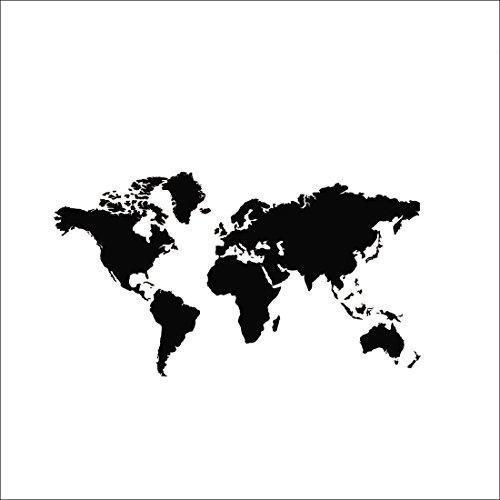 Mapa del mundo de bricolaje PVC de vinilo etiqueta de la pared removible Mural Art Adhesivos de decoración del hogar Cartel de ventana 60 * 105 cm