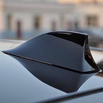 Hlyjoon Auto Fin Shaped Roof Radio AM//FM Signal Antenne Antenne Dekoration Auto dekorative Antenne Haifischflosse Satellit verstecken Antenne Dachantenne Gold