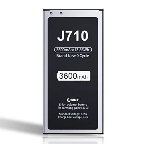 ZMNT - Batería para Samsung Galaxy J7 (3600 mAh, ión de Litio, Compatible con Samsung Galaxy J7 2016, J710, J710FN, DS Galaxy J7 2016, Dual SIM)