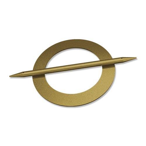 INTERDECO Raffspangen/Gardinenspangen (2 Stück) Messing Antik aus Metall, Avos Kreis