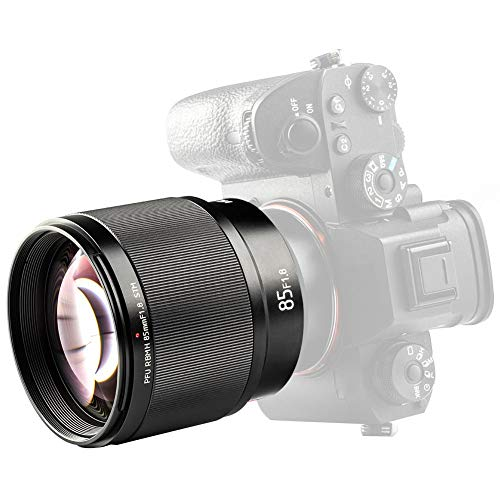 Taidda Lente de Enfoque automático, Duradero 85MM F1.8 S T M Lente de Enfoque automático con Montura E EF Full Frame con nanómetro HD Recubrimiento Multicapa para cámaras Sony