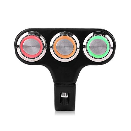 GIS On/Off de la Niebla del Freno del Freno del Freno de la luz del Manillar de la Motocicleta de 22 mm de Encendido/Apagado con Interruptor de Moto Ligero LED