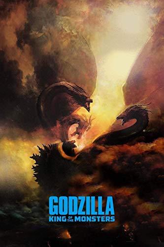 Desconocido para Adultos 1000 Piezas Rompecabezas para Piezas Jigsaw Puzzle Póster de la película Godzilla Monster King educativos para niños Juegos de Bricolaje