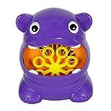 HomeDecTime Fabricante Automático de Burbujas de Hipopótamo de Dibujos Animados para Niños Accesorios para Bebés