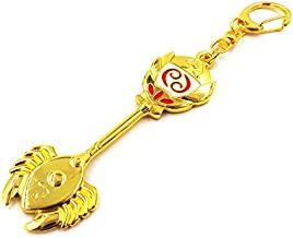 Cosplay Fairy Tail Keys, Lucy Heart Key Chain Celestial Spirit Gate Keyring, Zodiac Keys and Keyring, (巨蟹座 Cancer)