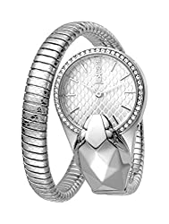 Glam Chic Quartz Double Wrap Stainless Steel Bangle Watch