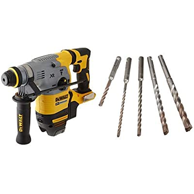 "DEWALT DCH293B 20V Max XR Brushless 1-1/8"" L-Shape SDS Plus Rotary Hammer Drill (Tool Only)"