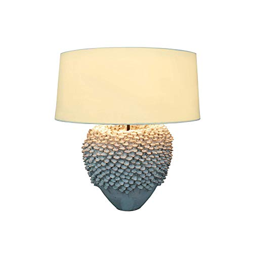 Filigrane Keramik Leuchte DREAM mit hochwertigem Leinenschirm 70cm Lampe