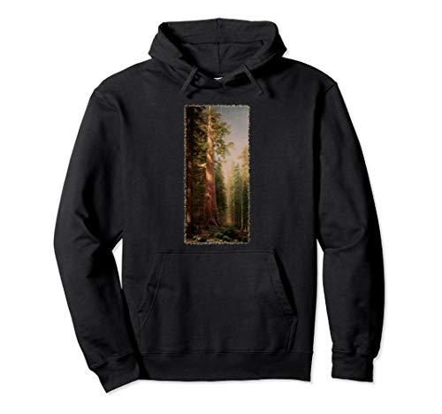 Riesenmammutbaum Redwood Bäume durch Albert Bierstadt Pullover Hoodie