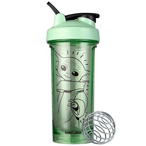BlenderBottle Star Wars Shaker Bottle Pro Series, Perfect for Protein Shakes and Pre Workout, 28-Ounce The Child