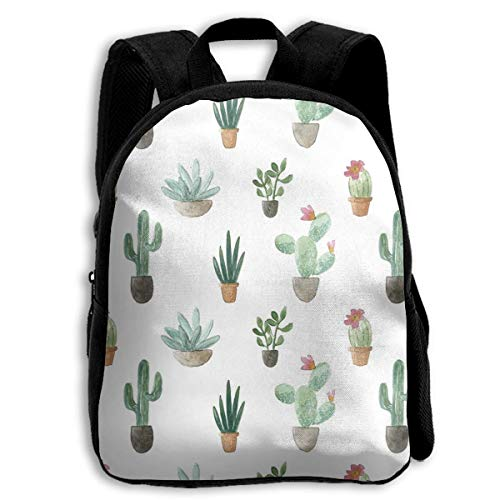 jenny-shop Cacti Collection Mochilas Escolares para niños Mochila Preescolar de 13 'con...