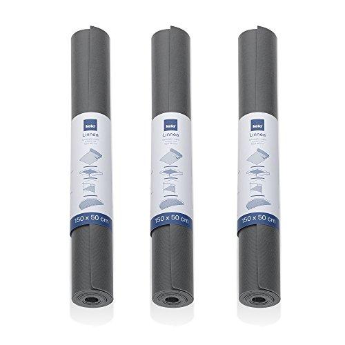 Kela Antirutschmatte, Linnea, 3 Stück, PVC, 390212, Grau