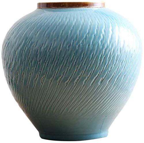 Vasen Keramik handgefertigt Handwerk Einfach gestreifte Büro TV-Schrank Esstisch Dekoration (28 * 30cm) Home D & Eacute; COR