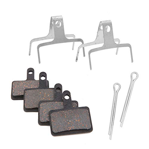 Bicycle Disc Brake Pads, 2 Pairs Semi-Metallic Bike Brake Pads, Bike Brake Pads Set For Shimano/Tektro