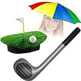 German Trendseller® Golfer - Woods - Kostüm Set - Deluxe ┃ Golfer - Rasen Mütze + Golfschläger...