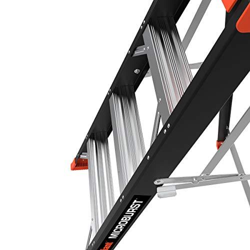Little Giant Ladders, MicroBurst, 4' Stepladder, Fiberglass, Type 1AA, 375 lbs weight rating, (15700-001)