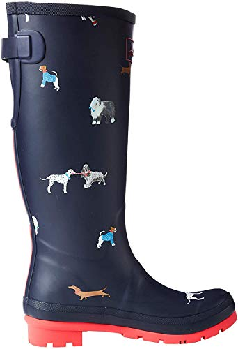 Joules Women's Work Wellington Boots, Blue MayDay Dogs Maydaydogs, 39