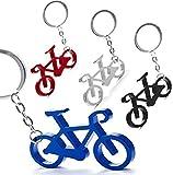Pack de 50 Llaveros Aluminio Bicicleta - Llaveros Originales Colores Variados con Forma de Bicicleta - Llaveros para Ciclistas y Vueltas Ciclistas. Detalles Originales y Muy económicos para Ciclistas