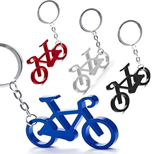 Pack de 50 Llaveros Aluminio Bicicleta - Llaveros Originales Colores Variados con Forma de Bicicleta - Llaveros para Ciclistas y Vueltas Ciclistas. Detalles Originales y Muy económicos para Ci