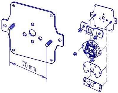Siral Lagerplatte für Aufsatzelement zum direkten Anschrauben